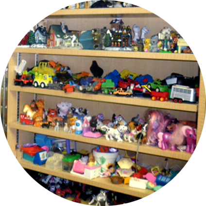 Shelf of Toys